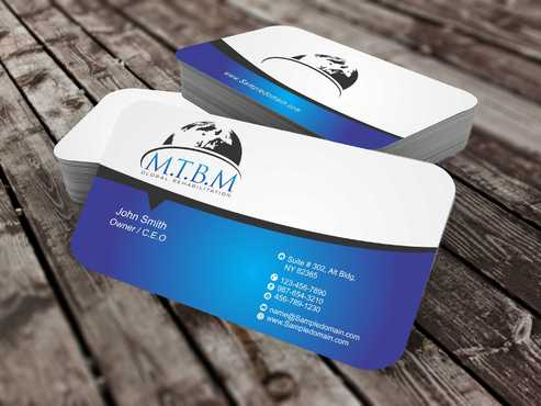 Business Card and Stationary for MTBM Global Rehabilitation Business Cards and Stationery  Draft # 164 by Dawson