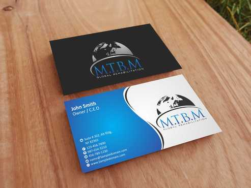 Business Card and Stationary for MTBM Global Rehabilitation Business Cards and Stationery  Draft # 165 by Dawson