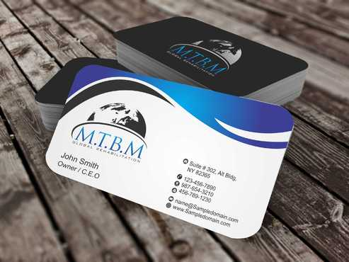 Business Card and Stationary for MTBM Global Rehabilitation Business Cards and Stationery  Draft # 166 by Dawson