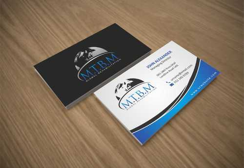 Business Card and Stationary for MTBM Global Rehabilitation Business Cards and Stationery  Draft # 167 by Dawson