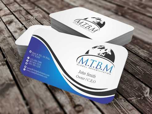 Business Card and Stationary for MTBM Global Rehabilitation Business Cards and Stationery  Draft # 168 by Dawson