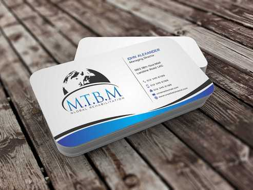 Business Card and Stationary for MTBM Global Rehabilitation Business Cards and Stationery  Draft # 170 by Dawson