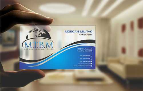 Business Card and Stationary for MTBM Global Rehabilitation Business Cards and Stationery  Draft # 171 by Dawson
