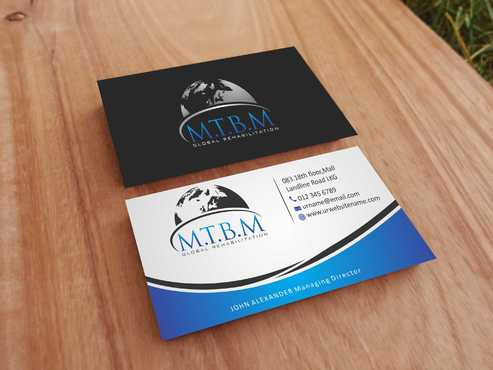 Business Card and Stationary for MTBM Global Rehabilitation Business Cards and Stationery  Draft # 173 by Dawson