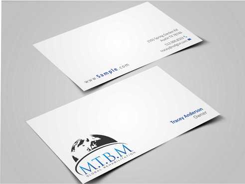 Business Card and Stationary for MTBM Global Rehabilitation Business Cards and Stationery  Draft # 175 by Dawson