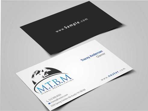 Business Card and Stationary for MTBM Global Rehabilitation Business Cards and Stationery  Draft # 177 by Dawson