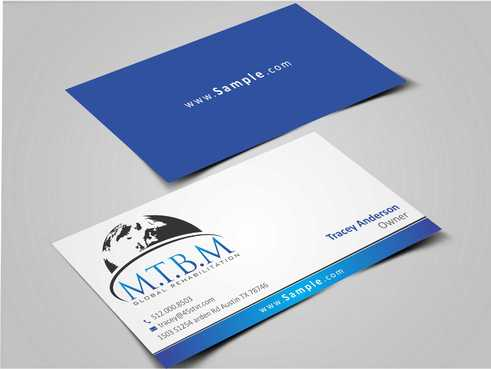 Business Card and Stationary for MTBM Global Rehabilitation Business Cards and Stationery  Draft # 178 by Dawson