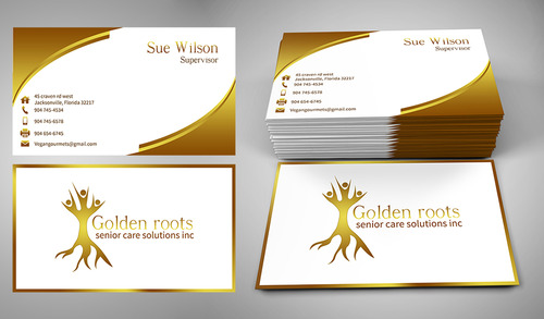 Golden roots senior care solutions inc Business Cards and Stationery  Draft # 2 by mgdesigner08