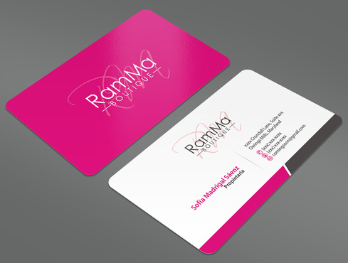 Modern business cards for a clothing boutique by daryflex1 for Business card for clothing boutique