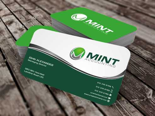 Mint Accounting Business Cards and Stationery  Draft # 94 by Dawson