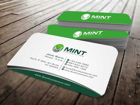 Mint Accounting Business Cards and Stationery  Draft # 95 by Dawson