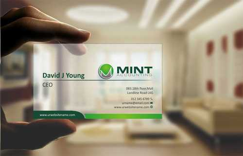 Mint Accounting Business Cards and Stationery  Draft # 96 by Dawson