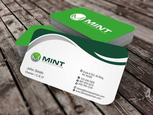 Mint Accounting Business Cards and Stationery  Draft # 102 by Dawson