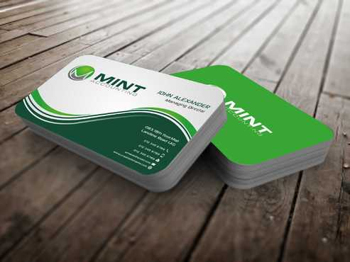 Mint Accounting Business Cards and Stationery  Draft # 104 by Dawson