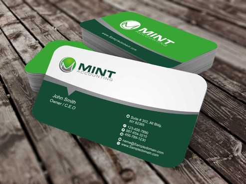 Mint Accounting Business Cards and Stationery  Draft # 105 by Dawson