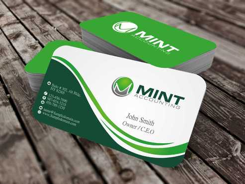 Mint Accounting Business Cards and Stationery  Draft # 109 by Dawson
