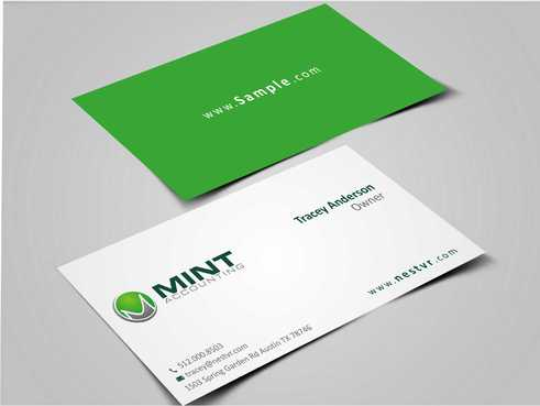 Mint Accounting Business Cards and Stationery  Draft # 117 by Dawson