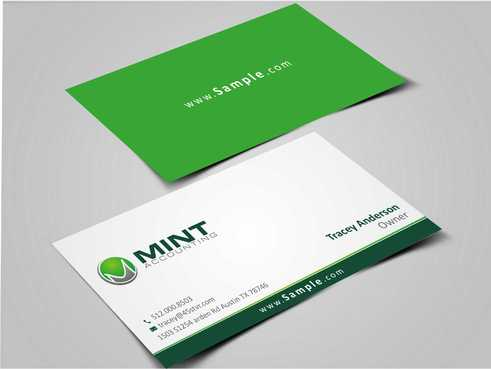 Mint Accounting Business Cards and Stationery  Draft # 118 by Dawson