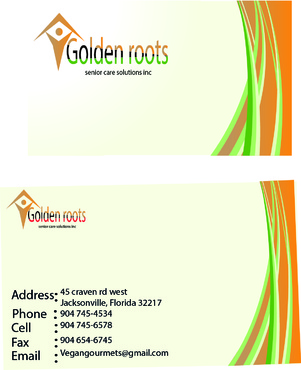 Golden roots senior care solutions inc Business Cards and Stationery  Draft # 4 by anmanaz