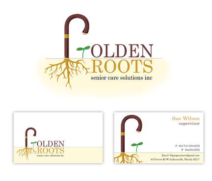 Golden roots senior care solutions inc Business Cards and Stationery  Draft # 6 by surajcena