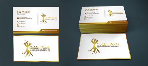 Golden roots senior care solutions inc Business Cards and Stationery  Draft # 7 by mgdesigner08