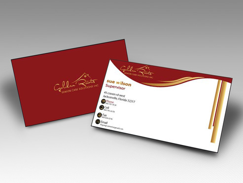 Golden roots senior care solutions inc Business Cards and Stationery  Draft # 84 by farzanahdesigner