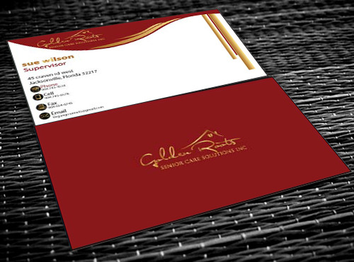 Golden roots senior care solutions inc Business Cards and Stationery  Draft # 85 by farzanahdesigner