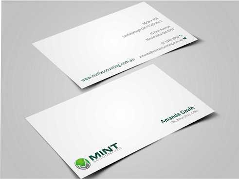 Mint Accounting Business Cards and Stationery  Draft # 145 by Dawson