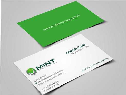 Mint Accounting Business Cards and Stationery  Draft # 147 by Dawson