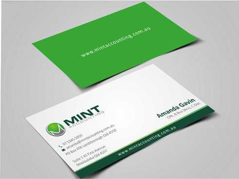 Mint Accounting Business Cards and Stationery  Draft # 149 by Dawson