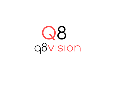 a drone (dji inspire1) and text (q8vision) A Logo, Monogram, or Icon  Draft # 16 by mazherali