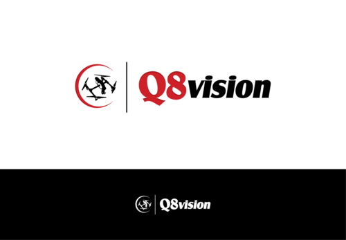 a drone (dji inspire1) and text (q8vision) A Logo, Monogram, or Icon  Draft # 19 by Kakie