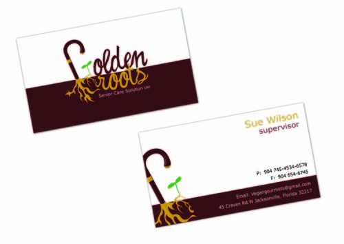 Golden roots senior care solutions inc Business Cards and Stationery  Draft # 102 by surajcena
