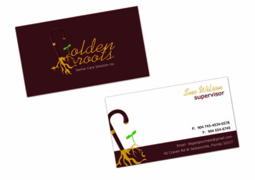 Golden roots senior care solutions inc Business Cards and Stationery  Draft # 103 by surajcena