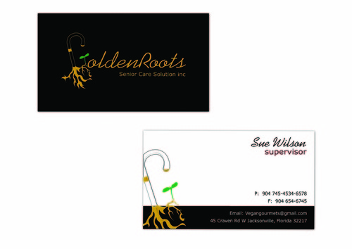 Golden roots senior care solutions inc Business Cards and Stationery  Draft # 104 by surajcena