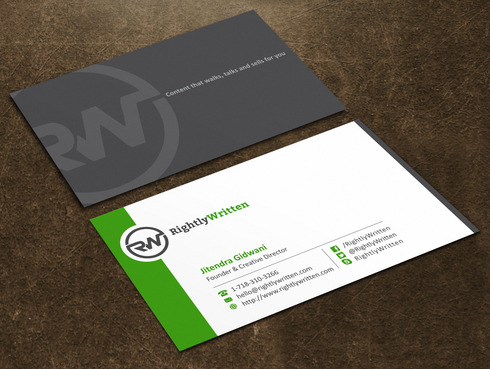 Business Card for an Online Services Company By Jgidwani
