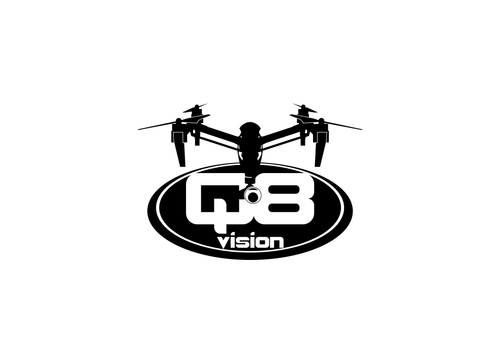 a drone (dji inspire1) and text (q8vision) A Logo, Monogram, or Icon  Draft # 29 by dany96