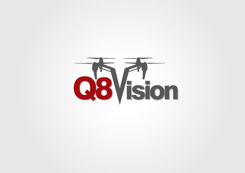 a drone (dji inspire1) and text (q8vision) A Logo, Monogram, or Icon  Draft # 30 by myhands