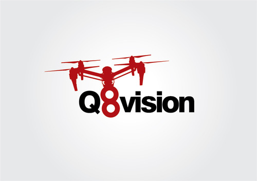 a drone (dji inspire1) and text (q8vision) A Logo, Monogram, or Icon  Draft # 31 by myhands