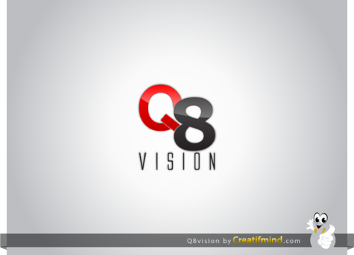 a drone (dji inspire1) and text (q8vision) A Logo, Monogram, or Icon  Draft # 36 by CreatifmindDesigns