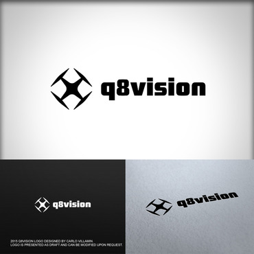 a drone (dji inspire1) and text (q8vision) A Logo, Monogram, or Icon  Draft # 39 by carlovillamin