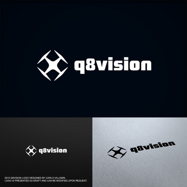a drone (dji inspire1) and text (q8vision) A Logo, Monogram, or Icon  Draft # 40 by carlovillamin