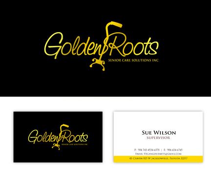 Golden roots senior care solutions inc Business Cards and Stationery  Draft # 106 by surajcena