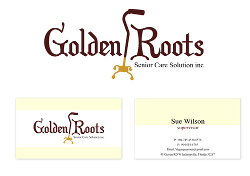 Golden roots senior care solutions inc Business Cards and Stationery  Draft # 107 by surajcena