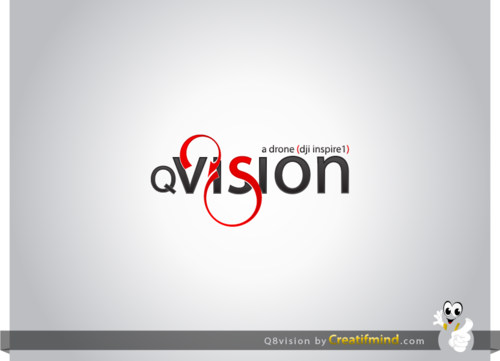 a drone (dji inspire1) and text (q8vision) A Logo, Monogram, or Icon  Draft # 48 by CreatifmindDesigns