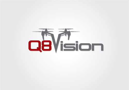 a drone (dji inspire1) and text (q8vision) A Logo, Monogram, or Icon  Draft # 57 by myhands
