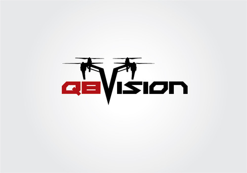 a drone (dji inspire1) and text (q8vision) A Logo, Monogram, or Icon  Draft # 58 by myhands