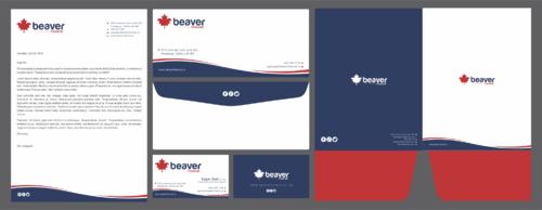 Beaver Financial Business Cards and Stationery Winning Design by idexign