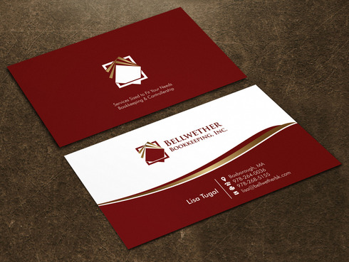 Bellwether Bookkeeping, Inc. Business Cards and Stationery  Draft # 25 by Xpert