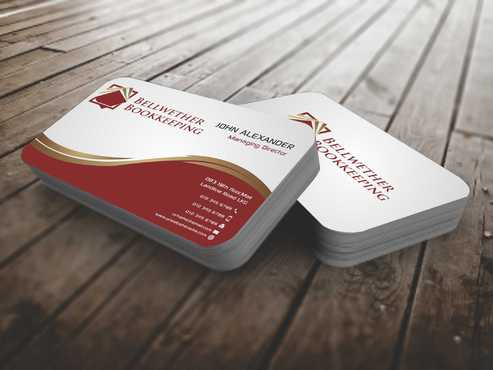 Bellwether Bookkeeping, Inc. Business Cards and Stationery  Draft # 93 by Dawson